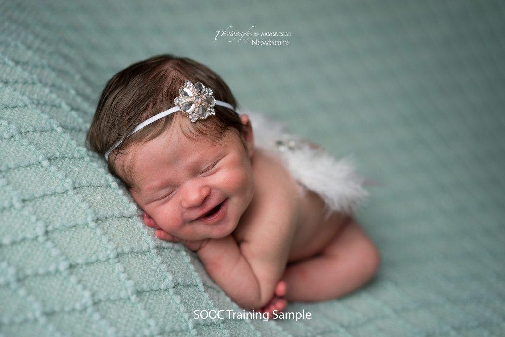 SOOC Training Sample - Newborn Cloud Posing Pillow - Modified Womb or Taco