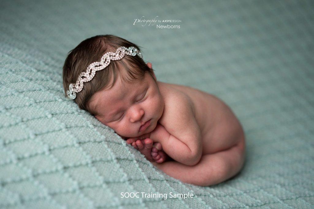 SOOC Training Sample - Newborn Cloud Posing Pillow - Womb or Taco
