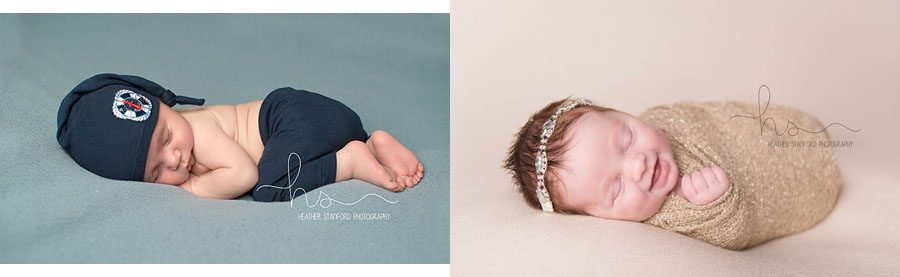 BEFORE Newborn Cloud (LEFT) | AFTER (RIGHT) — Heather Stanford using the Newborn Cloud Posing Pillow