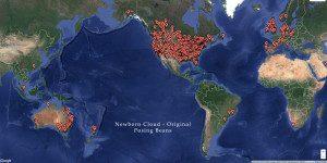 Map of Newborn Cloud Original Posing Bean Clients