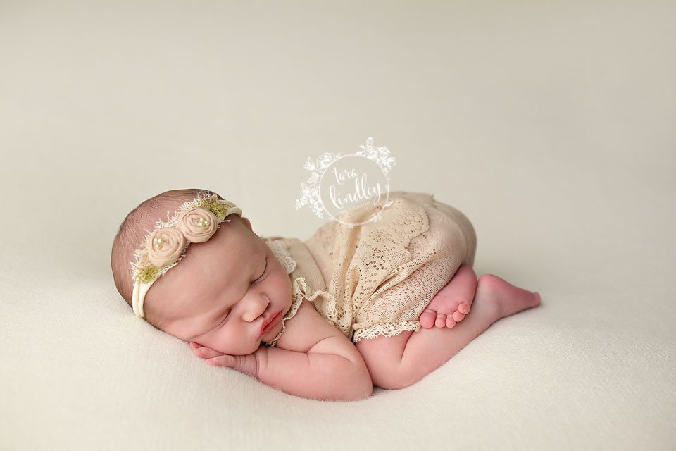 Tara Lindley using the Newborn Cloud Posing Pillow Set