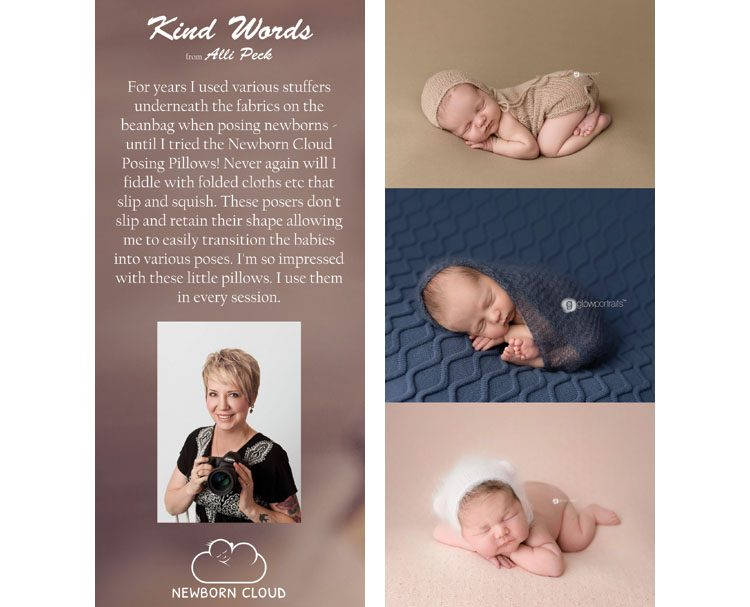 Alli Peck reviews the Newborn Cloud Posing Pillow